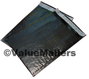 100 0 Black Poly Bubble Mailers Envelopes Bags 6x10 Extra Wide Cd Dvd 6x9