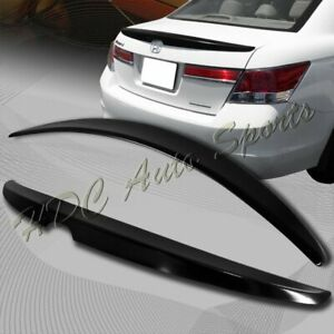 For 2008 2012 Honda Accord Oe Style Unpainted Black Abs Rear Trunk Spoiler Wing