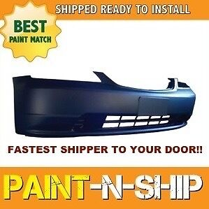 New 2001 2002 2003 Honda Civic Sedan Front Bumper Painted To Match ho1000197