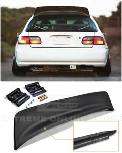 Jdm Bys Style Abs Plastic Rear Roof Spoiler Wing For 92 95 Honda Civic Hatchback