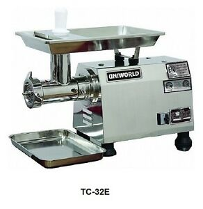 Uniworld Stainless Steel Electric Meat Grinder 22 x14 x24 Etl Approved Tc 32e