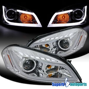 2006 2013 Chevy Impala Led Bar Clear Projector Headlights Monte Carlo