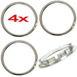 4 Universal 15 Inch Chrome Beauty Trim Rings For Steel Wheel Rims Rim Edge Ring