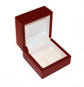 Rosewood Standard Or Championship Ring Gift Box Flat Top