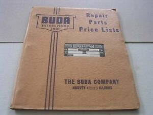 1941 Buda Gasoline Diesel Engines Repair Parts Price List Harvey Il In Org Env