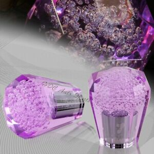 60mm Manual Transmission Purple Octagon Diamond Crystal Bubble Drift Shift Knob