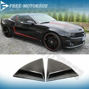 For 10 15 Chevy Camaro Zl1 Xenon Rear Window Louvers Scoops