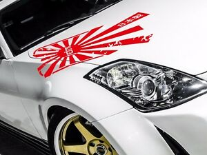 Hood Jap Rising Sun Made Japan Flag Navy Jdm Racing Car Body Vinyl Sticker Decal
