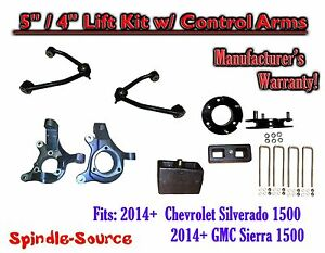2014 Chevrolet Silverado Gmc Sierra 1500 5 4 Spindle Lift Kit Control Arms