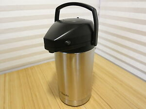 Aladdin 3 liter Vacuum Insulated Pump Lever Airpot Commercial Stainless Steel