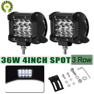 2x 7 36w Led Driving Work Light Bar Flood Beam Off Road 4wd Boat Atv Ute