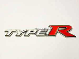 For Honda Type R Emblem White Logo Badge Sicker Civic Accord Trunk Grille New