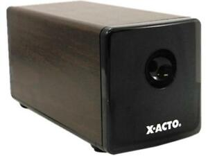 X acto 1716 Heavy duty Desktop Electric Pencil Sharpener Walnut Grain