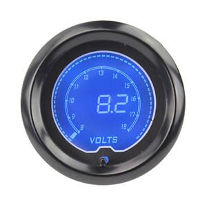 2 52mm Blue 7color Led Light Volt Voltage Meter Car Digital Gauge Smoke Len