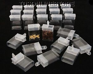 Rectangle Clear Plastic Storage Tubes With Flip Tops 1 5 Pack Of 100