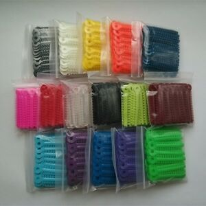 50 Packs Dental Orthodontic Elastic Ligature Ties Rubber Bands Brace Multi Rings