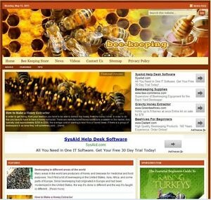 beekeeping Turnkey Website For Sale turnkeypages
