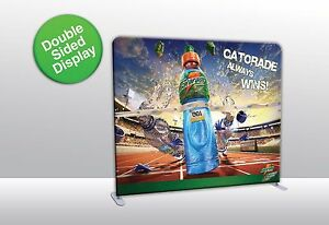 10ft Straight Tube Display With Double Sided Print