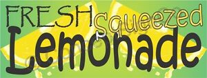 4 x10 Fresh Squeezed Lemonade Banner Xl Outdoor Sign Sale Concession Stand Fair