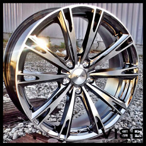 20 Ace Aspire Black Chrome Concave Wheels Rims Fits Ford Mustang Shelby Gt