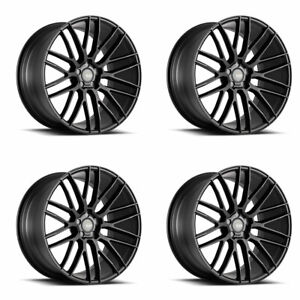 20 Savini Bm13 Black Concave Wheels Rims Fits Bmw F01 740 750 760