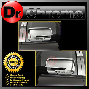 13 17 Dodge Ram W Turn Light Chrome Plated Full Abs Mirror Cover Pair 2013 2017