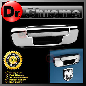 Chrome Plated Tailgate Handle No Kh Cover For 02 08 Dodge Ram 1500 2500 3500