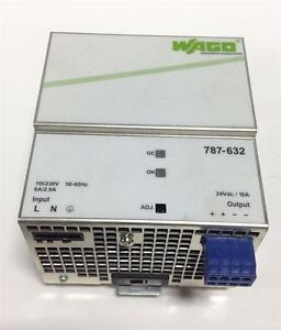 Wago Switched Mode Power Supply Out 24dvc 10a 240w 787 632