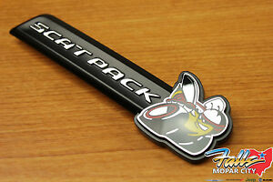 2015 2020 Dodge Charger Scat Pack Front Grille Clip On Emblem Nameplate Mopar
