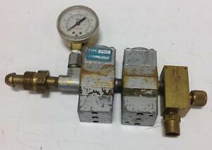 Linde Gas Regulator Flow Meter R 502 pzb