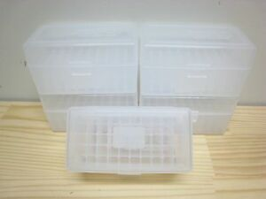 .2235.56 50rd Plastic Ammo CaseBox Clear 5ct 223 556 Berry's MFG