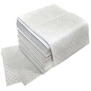 Oil Only Absorbent Pads Medium Weight 100 Per Pack Free Shipping