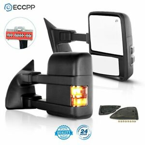 2008 16 Ford F450 Super Duty Side Mirrors Power Heated Smoke Signal Towing Pair