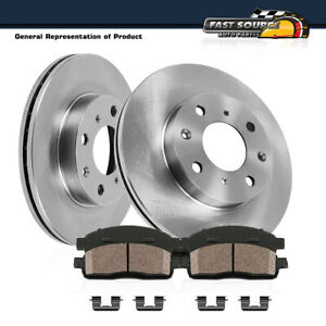 Front Brake Disc Rotors And Ceramic Pads 2011 2012 2013 2014 2015 Ford Fiesta