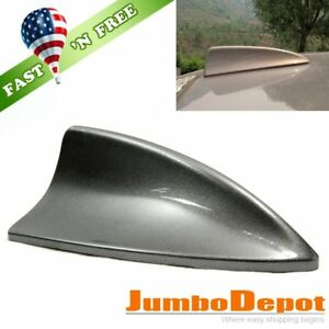 Us Dark Gray Shark Fin Car Roof Top Mount Aerial Antenna Decor For Nissan
