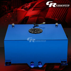 20 Gallon Blue Coated Aluminum Race Drifting Fuel Cell Gas Tank Level Sender