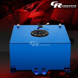 10 Gallon Blue Coated Universal Racing drifting Fuel Cell Gas Tank level Sender