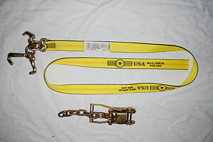2 Chain Ratchets Rtj Hook Strap Car Hauler Rollback Wrecker Tow Truck Trailer