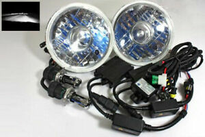 7 Round H6024 Projector Jdm Headlights 6000k White Hi low Hid Conversion Kit