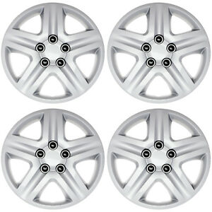 4pc Fits Chevy Impala Metal Clips Snap On 16 Inch Slvr Hub Caps Wheel Cover Cap
