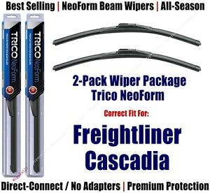 2 Pack Super Premium Neoform Wipers Fit 2008 Freightliner Cascadia 16240x2