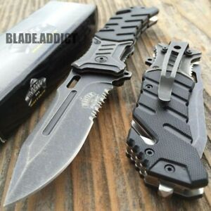 8quot; BALLISTIC MILITARY Tactical Combat Spring Assisted Open Pocket Rescue Knife $13.95