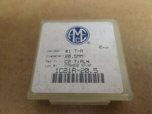 11 Sleeves Of 2 Inserts Acme 1c21a 20 5 Blade Insert Carbide