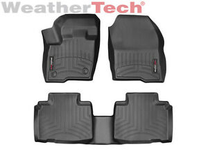 Weathertech Floorliner Floor Mats For Ford Edge 2015 2019 1st 2nd Row Black
