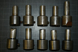10 Brown Sharpe 22a Tool Holders 1 Shank 1 Bore