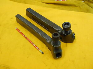 2 Engine Lathe Tool Holders Metal Turning Hss Bit Armstrong Usa No 5 r