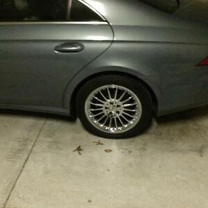 Mercedes Benz Cls500 18 Staggered Polished Chrome Wheels Excl Cond