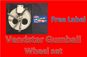 Vendstar Vending Machine 1 Gumball Wheel Sets With Free Labels