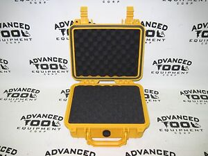 Yellow 10 5 Weatherproof Equipment Case 4 Trimble Tds Recon 400 400x 200 200x