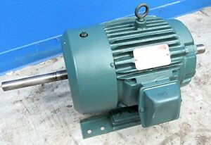 Reliance Electric 5 Hp Double Shaft Duty Master Ac Motor 1 3 8 Dia Shank